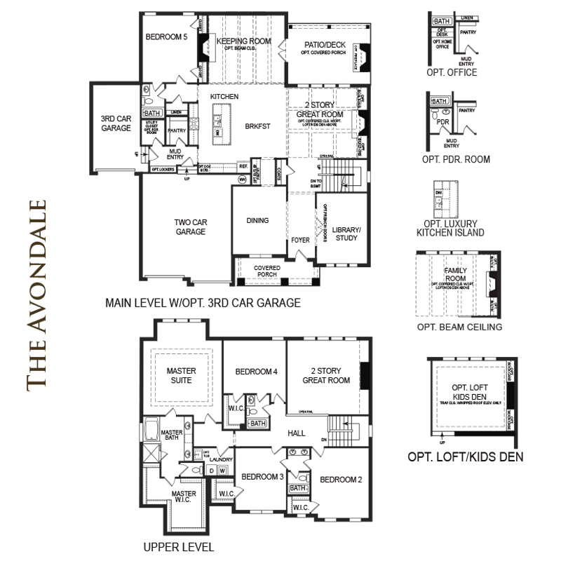 Blackwell manor home south communities a lennar company Avondale house plan